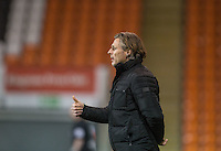Wycombe Wanderers Manager Gareth Ainsworth gives thumb up during the The Checkatrade Trophy match between Blackpool and Wycombe Wanderers at Bloomfield Road, Blackpool, England on 10 January 2017. Photo by Andy Rowland / PRiME Media Images.