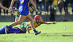 Laura Rynne of Inagh-Kilnamona in action against Ciara Mc Carthy of Newmarket during their senior county final in Clarecastle. Photograph by John Kelly.