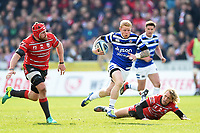 Tom Homer of Bath Rugby goes on the attack. Gallagher Premiership match, between Gloucester Rugby and Bath Rugby on April 13, 2019 at Kingsholm Stadium in Gloucester, England. Photo by: Patrick Khachfe / Onside Images