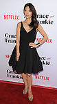 Brittany Ishibashi arriving at the Grace and Frankie Season 2 Premiere held at Harmony Gold on May 1, 2016
