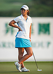 TAOYUAN, TAIWAN - OCTOBER 26:  Danielle Kang of USA stands on the 18th hole during the day two of the Sunrise LPGA Taiwan Championship at the Sunrise Golf Course on October 26, 2012 in Taoyuan, Taiwan. Photo by Victor Fraile / The Power of Sport Images