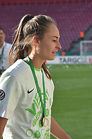 20170527 - KOELN , GERMANY : Wolfsburg's Tessa Wullaert pictured after the final of German Women's Cup 2017 - Pokal Final Frauen , a soccer women game between SC Sand and holders VfL Wolfsburg  , at the Rhein Energie Stadion , saturday 27 th Mayl 2017 . PHOTO SPORTPIX.BE | DIRK VUYLSTEKE