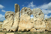 Neolithic Standing Stones at Hagar Qim in Malta