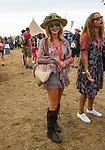 Amanda Holden  at the Big Feastival 2017, aton Alex James' farm Kingham Oxfordshire uk