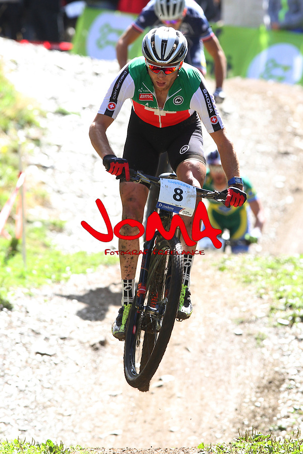 05.09.2015 La Massana Andorra. 201 UCI Mountain Bike World Champions.Picture show Fluckiger Lukas (SUI) in action during Men ELite Cross-country Olympic World Champions