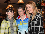 Anne Harding, Susann Duff and Roanna Harding pictured at the Slane Spinners Cycle Club launch in The Boyne Valley Inn Slane. Photo:Colin Bell/pressphotos.ie