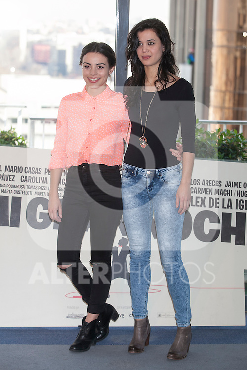 Marta Castellon (L) and Marta Guerra pose during `Mi gran noche´ film presentation in Madrid, Spain. February 20, 2015. (ALTERPHOTOS/Victor Blanco)
