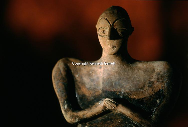 Ceramic figurine of human; National Museum of Turkmenistan, Ashgabat,artifact.Oxus Civilization; Turkmenistan; Gonor Depe site; Victor Sarianidi; Archaeology; BMAC complex