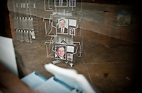 Bush memorabilia still sits in the closed Yellow Rose gift shop in Crawford, Texas, US, Wednesday, April 14, 2010. Crawford has only one remaining gift shop since President George W. Bush has left office...PHOTO/ MATT NAGER