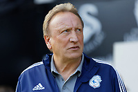 Cardiff manager Neil Warnock stands in the technical area during the Sky Bet Championship match between Swansea City and Cardiff City at the Liberty Stadium, Swansea, Wales, UK. Sunday 27 October 2019