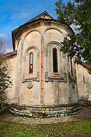 Picture & image of the medieval Khobi Monastery and the apse of Khobi Georgian Orthodox Cathedral, 10th -13th century, Khobi, Georgia.