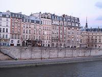 Parisian townhouses on the Seine River, Paris