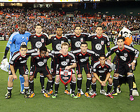 Starting eleven of D.C. United  during an MLS match against the Los Angeles Galaxy at RFK Stadium, on April 9 2011, in Washington D.C. The game ended in a 1-1 tie.