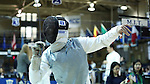 11 February 2017: Duke's Will Feldman competes in Foil. The Duke University Blue Devils hosted the Massachusetts Institute of Technology Engineers at Card Gym in Durham, North Carolina in a 2017 College Men's Fencing match. Duke won the dual match 19-8 overall, 7-2 Foil, 6-3 Epee, and 6-3 Saber.