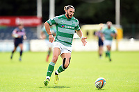 Tom Arscott of Newcastle Falcons looks to gather the ball. Pre-season friendly match, between Doncaster Knights and Newcastle Falcons on August 25, 2018 at Castle Park in Doncaster, England. Photo by: Patrick Khachfe / Onside Images