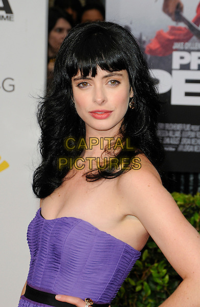 "KRYSTEN RITTER.The Hollywood Premiere ""Prince Of Persia: The Sands Of Time"" at Grauman's Chinese Theatre in Hollywood, California, USA..May 17th, 2010.half length bangs fringe dress  purple strapless kristen .CAP/ROT.©Lee Roth/Capital Pictures"