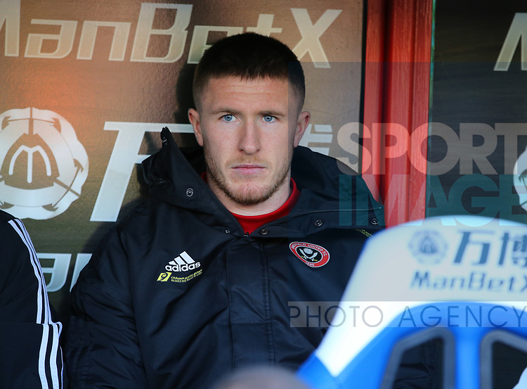 John Lundstram of Sheffield Utd starts the game on the benchduring the Premier League match at Selhurst Park, London. Picture date: 1st February 2020. Picture credit should read: Paul Terry/Sportimage