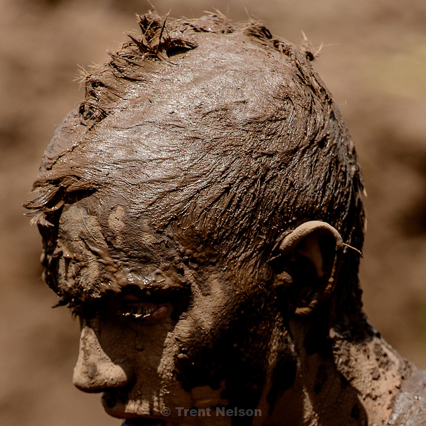 Trent Nelson  |  The Salt Lake Tribune<br /> Runners get dirty at the Dirty Dash, held at Soldier Hollow, Saturday June 6, 2015.