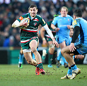 6th January 2018, Welford Road Stadium, Leicester, England; Aviva Premiership rugby, Leicester Tigers versus London Irish; Jonny May makes a break for Tigers