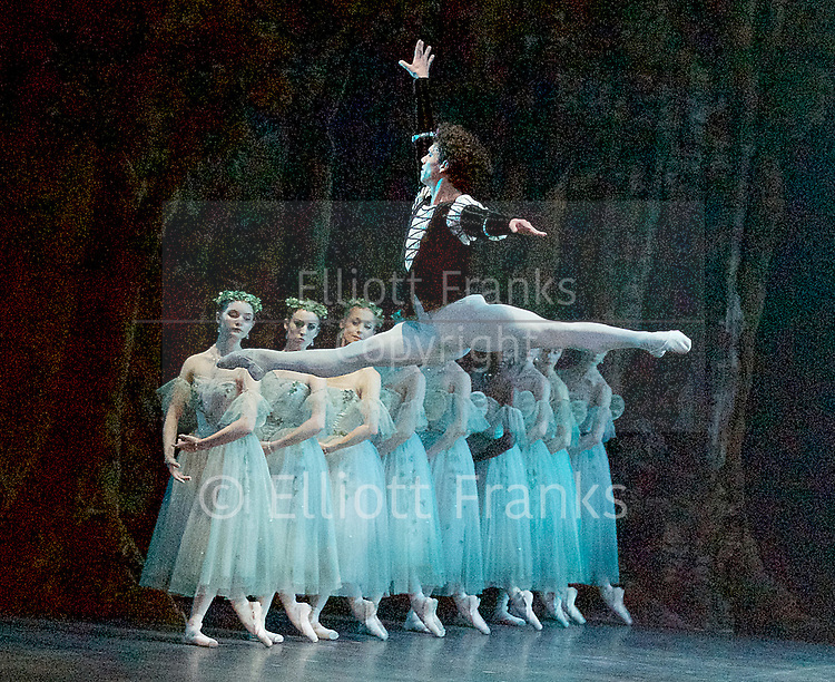 Giselle <br /> English National Ballet at The London Coliseum, London, Great Britain <br /> rehearsal <br /> 10th January 2017 <br /> <br /> <br /> <br /> Isaac Hernandez as Albrecht <br /> <br /> <br /> <br /> <br /> Photograph by Elliott Franks <br /> Image licensed to Elliott Franks Photography Services