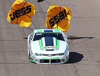 Feb 23, 2019; Chandler, AZ, USA; NHRA pro stock driver Kenny Delco during qualifying for the Arizona Nationals at Wild Horse Pass Motorsports Park. Mandatory Credit: Mark J. Rebilas-USA TODAY Sports