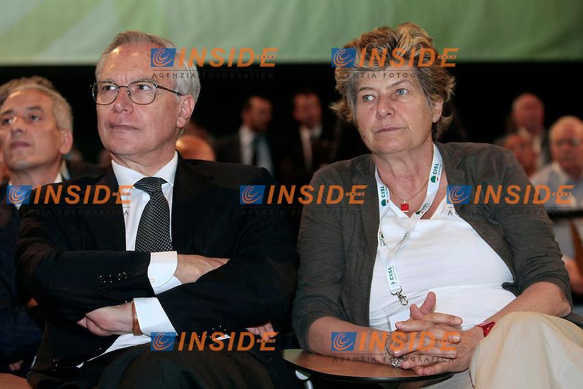 Guglielmo Epifani e Susanna Camusso<br /> Roma 12/06/2013 Palazzo dei Congressi. XVII Congresso Interfederale della CISL.<br /> Photo Samantha Zucchi Insidefoto