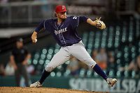 Binghamton Rumble Ponies relief pitcher Thomas McIlraith (29) during an Eastern League game against the Richmond Flying Squirrels on May 29, 2019 at The Diamond in Richmond, Virginia.  Binghamton defeated Richmond 9-5 in ten innings.  (Mike Janes/Four Seam Images)