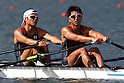 Hiroshi Nakano &amp; Hideki Omoto (JPN), <br /> AUGUST 11, 2016 - Rowing : <br /> Men's Lightweight Double Sculls Semi-fainal <br /> at Lagoa Stadium <br /> during the Rio 2016 Olympic Games in Rio de Janeiro, Brazil. <br /> (Photo by Sho Tamura/AFLO SPORT)