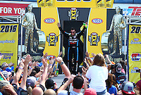 Jun 12, 2016; Englishtown, NJ, USA; NHRA top fuel driver Clay Millican during the Summernationals at Old Bridge Township Raceway Park. Mandatory Credit: Mark J. Rebilas-USA TODAY Sports
