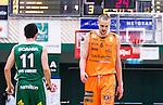S&ouml;dert&auml;lje 2014-04-26 Basket SM-final S&ouml;dert&auml;lje Kings - Norrk&ouml;ping Dolphins :  <br /> Norrk&ouml;ping Dolphins Joakim Kjellbom depp besviken besvikelse sorg ledsen deppig nedst&auml;md uppgiven sad disappointment disappointed dejected <br /> (Foto: Kenta J&ouml;nsson) Nyckelord:  S&ouml;dert&auml;lje Kings SBBK Norrk&ouml;ping Dolphins SM-final Final T&auml;ljehallen