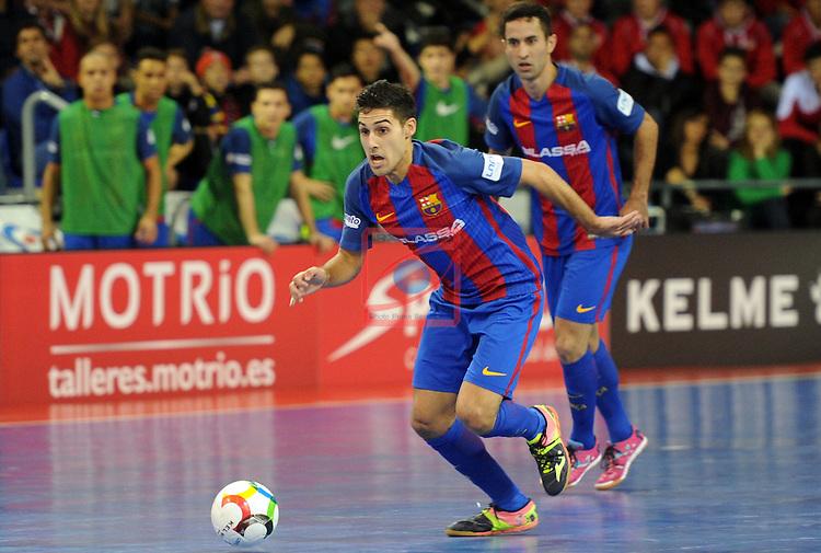 League LNFS 2016/2017 - Game 8.<br /> FC Barcelona Lassa vs ElPozo Murcia: 2-3.<br /> Adolfo Fernandez.