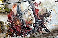 Artist C215 ( France ) <br /> Title Mea Maxima Culpa<br /> Quartiere / District  Ostiense <br /> <br /> Roma 10-11-2015 Street Art a Roma. <br /> Street Art in Rome. <br /> Foto Andrea Staccioli / Insidefoto