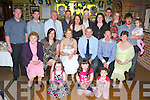 Emily and John McCarthy, Castlemaine who celebrated the christening of their daughter Kayleigh in Murphy's bar, Boolteens on Saturday first row l-r: Lauren Griffin, Molly and Ava McCarthy. Second row: Hannah McCarthy, Susan Griffin, Emily, Kayleigh and John McCarthy, John Dowling, Marie McCarthy. Third row: Stephen Dowling, Aidan Dowling, James McCarthy, Flor McCarthy, Breda O'Sullivan, Mary McCarthy, Liam McCarthy, Adele Griffin, Aileen McCarthy and Jason McCarthy ..