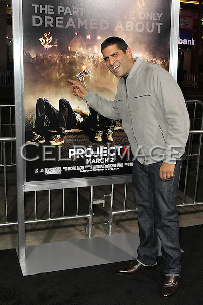 "NIMA NOURIZADEH. Los Angeles Premiere of Warner Brothers Pictures' ""Project X,"" at Grauman's Chinese Theatre. Hollywood, CA USA. February 29, 2011.©CelphImage"