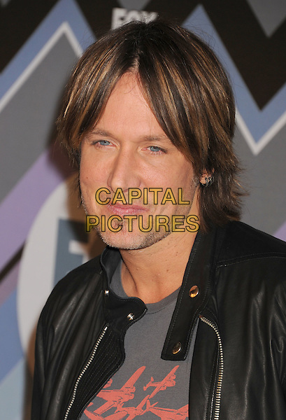 Keith Urban.arriving at the 2013 TCA Winter Press Tour - FOX All-Star Party at The Langham Huntington Hotel and Spa in Pasadena, California, USA, .January 8th, 2013.   .portrait headshot black leather jacket grey gray t-shirt goatee facial hair soul patch .CAP/ROT/TM.©Tony Michaels/Roth Stock/Capital Pictures