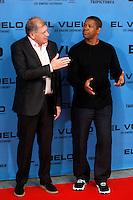 Director Robert Zemeckis and actor Denzel Washington  attend the 'Flight' (El Vuelo) photocall at the Villamagna Hotel. January 22, 2013. (ALTERPHOTOS/Caro Marin) /NortePhoto