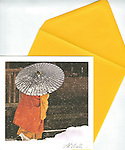 Shinto Monk, Koyasan, Japan<br /> 6.5&quot; x 6.5&quot; <br /> Exceptional, framing-quality square card with color-coordinated envelope. Embossed with signature, printed on watercolor paper. Watermark does not appear on product.
