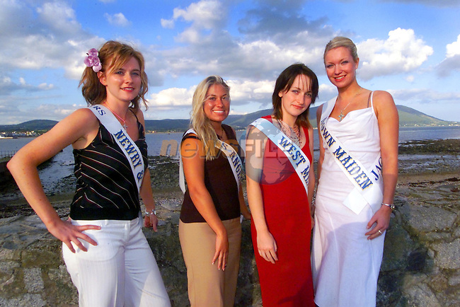 Davina Sands Newry maiden,Margaret O'Nell Los Angeles maiden,Helen Weir Westmeath maiden,and Claire McKinstry Down maiden,at The Maiden of the Mouurne in Omeath.                                                           ..Picture Newsfile...This Picture is sent to you by:..Newsfile Ltd.The View, Millmount Abbey, Drogheda, Co Louth, Ireland..Tel: +353419871240.Fax: +353419871260.GSM: +353862500958.ISDN: +353419871010.email: pictures@newsfile.ie.www.newsfile.ie