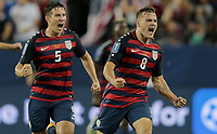 Santa Clara, CA - Wednesday July 26, 2017: Jordan Morris celebrates his goal during the 2017 Gold Cup Final Championship match between the men's national teams of the United States (USA) and Jamaica (JAM) at Levi's Stadium.