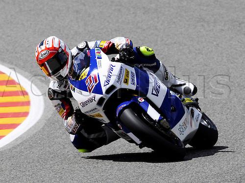 06 06 2010 Vladimir Leonov RUS Suter. Moto2 class, 600cc spec Honda eninges in prototype chassis. Gran Premio d'Italia TIM, Mugello circuit, Italy.