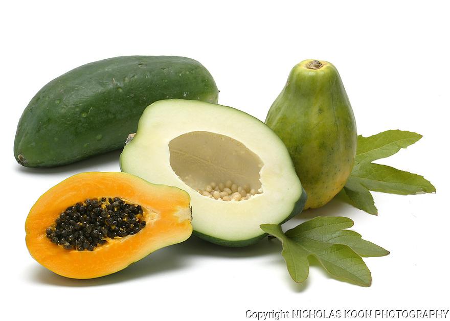 Papaya still life.