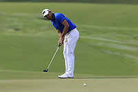 Charl Schwartzel (RSA) putts on the 14th green during Thursday's Round 1 of the 2017 PGA Championship held at Quail Hollow Golf Club, Charlotte, North Carolina, USA. 10th August 2017.<br /> Picture: Eoin Clarke | Golffile<br /> <br /> <br /> All photos usage must carry mandatory copyright credit (&copy; Golffile | Eoin Clarke)