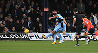 Sam Wood of Wycombe Wanders has a shot on goal during the Sky Bet League 2 match between Luton Town and Wycombe Wanderers at Kenilworth Road, Luton, England on 26 December 2015. Photo by Liam Smith.