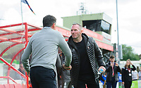 Sunderland manager Jack Ross, left, and Lincoln City manager Michael Appleton<br /> <br /> Photographer Chris Vaughan/CameraSport<br /> <br /> The EFL Sky Bet League One - Lincoln City v Sunderland - Saturday 5th October 2019 - Sincil Bank - Lincoln<br /> <br /> World Copyright © 2019 CameraSport. All rights reserved. 43 Linden Ave. Countesthorpe. Leicester. England. LE8 5PG - Tel: +44 (0) 116 277 4147 - admin@camerasport.com - www.camerasport.com