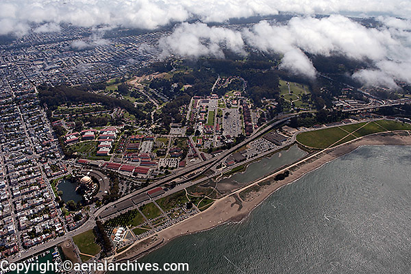 aerial photograph Crissy Field Main Post Presidio of San Francisco