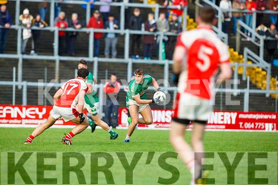 Aidan O'Mahony Rathmore tracks James O'Donoghue Legion during the East Kerry final on Sunday