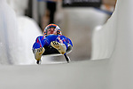 7 February 2009: Thomas Girod slides for France in the Men's Competition at the 41st FIL Luge World Championships, in Lake Placid, New York, USA. .  .Mandatory Photo Credit: Ed Wolfstein Photo