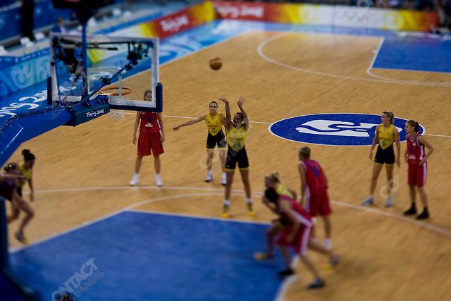 Women's Basketball, Quarterfinal, Australia vs Czech Republic, Summer Olympics, Beijing, China, August 19, 2008