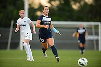 Sky Blue FC midfielder Brittany Bock (10). Sky Blue FC defeated the Washington Spirit 1-0 during a National Women's Soccer League (NWSL) match at Yurcak Field in Piscataway, NJ, on August 3, 2013.