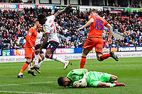 Bolton Wanderers' Lloyd Dyer competing with Millwall's Jordan Archer <br /> <br /> Photographer Andrew Kearns/CameraSport<br /> <br /> The EFL Sky Bet Championship - Bolton Wanderers v Millwall - Saturday 9th March 2019 - University of Bolton Stadium - Bolton <br /> <br /> World Copyright © 2019 CameraSport. All rights reserved. 43 Linden Ave. Countesthorpe. Leicester. England. LE8 5PG - Tel: +44 (0) 116 277 4147 - admin@camerasport.com - www.camerasport.com